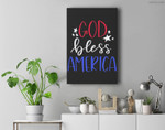 Patriotic USA - God Bless America Premium Wall Art Canvas Decor