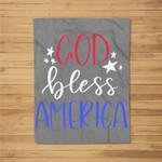 Patriotic USA - God Bless America Fleece Blanket