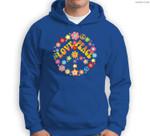 PEACE SIGN LOVE 60s 70s Tie Dye Hippie Costume Sweatshirt & Hoodie