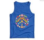 PEACE SIGN LOVE 60s 70s Tie Dye Hippie Costume Men Tank Top