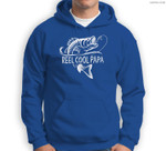 Mens Reel Cool Papa Fishing Dad Gifts Father's Day Fisherman Fish Sweatshirt & Hoodie
