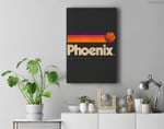 Phoenix Basketball B-Ball City Arizona Retro Phoenix Premium Wall Art Canvas Decor