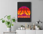 Phoenix Basketball B-Ball City Arizona State Retro Vintage Premium Wall Art Canvas Decor