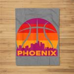 Phoenix Basketball B-Ball City Arizona State Retro Vintage Fleece Blanket