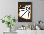 PHOENIX Basketball Valley Premium Wall Art Canvas Decor
