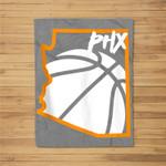 PHOENIX Basketball Valley Fleece Blanket