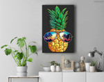Pineapple Sunglasses Aloha Beaches Hawaiian Hawaii Premium Wall Art Canvas Decor