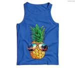 Pineapple Sunglasses Aloha Beaches Hawaiian Hawaii Men Tank Top