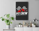 Pit Crew Car Racing Checkered Flag Racing Party Premium Wall Art Canvas Decor