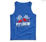 Pit Crew Car Racing Checkered Flag Racing Party Men Tank Top