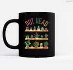 Plant Lover and Gardener  Pot Head Succulent Ceramic Coffee Black Mugs