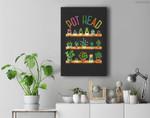 Plant Lover and Gardener  Pot Head Succulent Premium Wall Art Canvas Decor
