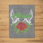 Poison - Thorns & Wings Fleece Blanket