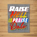 Raise Hell Praise Dale Vintage Fleece Blanket