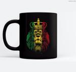 Rasta Lion of Judah Rastafarian Reggae Ethiopian Lion Gift Ceramic Coffee Black Mugs