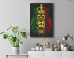 Rasta Lion of Judah Rastafarian Reggae Ethiopian Lion Gift Premium Wall Art Canvas Decor