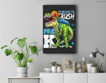 Ready To Crush Pre-K T Rex Dinosaur Back to School Boys Gift Premium Wall Art Canvas Decor