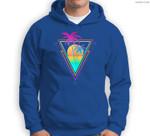 Retro 1980s 1990s Vaporwave Palm Trees Sunset Beach Surf Art Sweatshirt & Hoodie