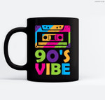 Retro Aesthetic Costume Party Outfit - 90s Vibe Ceramic Coffee Black Mugs