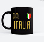 Retro Italy Soccer Jersey Italia Football Calcio Numero 10 Ceramic Coffee Black Mugs