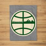 Retro Milwaukee Basketball Home Game Fleece Blanket