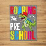 Roaring Into Preschool Dinosaur Teacher Pre K Back To School Fleece Blanket