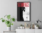 Scarface Distressed Movie Poster Photo Premium Wall Art Canvas Decor