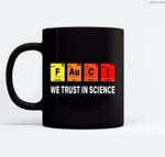 Science Fauci F Au C I Trust Wear a Mask Be Kind Ceramic Coffee Black Mugs