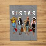 Sistas afro Women together, Women , Women birthday Fleece Blanket