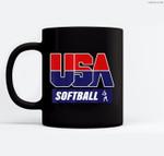 Softball 2021 Souvenir USA Ceramic Coffee Black Mugs