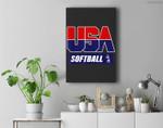 Softball 2021 Souvenir USA Premium Wall Art Canvas Decor