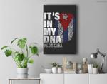 Sos Cuba Cuba Flag Cuban Pride it's in my DNA Men Women Premium Wall Art Canvas Decor