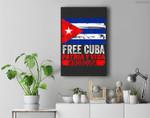 SOS Cuba Cuba Flag, Cuban Fist, Free Cuba Libre 2021 Cuban Premium Wall Art Canvas Decor