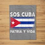 sos cuba flag patria y vida cubans pride Fleece Blanket