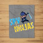 Spy Gaming Ninjas Gamer Funny Fleece Blanket