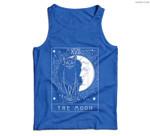 Tarot Card Crescent Moon And Cat Graphic Men Tank Top