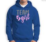Team Girl Gender Reveal Baby Shower Sweatshirt & Hoodie