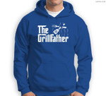 The Grillfather BBQ Grill & Smoker  Barbecue Chef Sweatshirt & Hoodie
