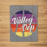 The Valley Oop Phoenix Basketball Retro Sunset Basketball Fleece Blanket