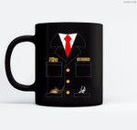 Train Conductor Costume  Adults  Kids Ceramic Coffee Black Mugs