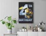 Transformers Bumblebee 4th Birthday Premium Wall Art Canvas Decor