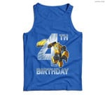 Transformers Bumblebee 4th Birthday Men Tank Top