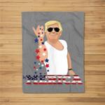 Trump Bae - Funny 4th of July Trump Salt Freedom Fleece Blanket