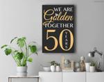 Romantic For Couples - 50th Wedding Anniversary Premium Wall Art Canvas Decor
