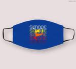 Simone Gymnastics Retro Vintage Wins Another Record Cloth Face Mask