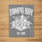 Tampa Bay Hockey Team Vintage Florida Est 1992 The Bolts Fleece Blanket
