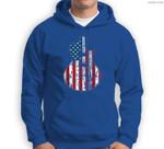 US American Flag Guitar Musician Distressed Guitars Vintage Sweatshirt & Hoodie