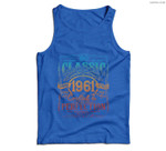 Vintage 1961 Limited Edition Gift 60 years old 60th Birthday Men Tank Top