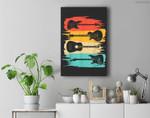 Vintage Guitar Gift For Men Women Music Band Guitarist Stuff Premium Wall Art Canvas Decor