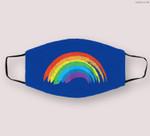 Vintage Retro Rainbow - Classic Distressed Design Cloth Face Mask